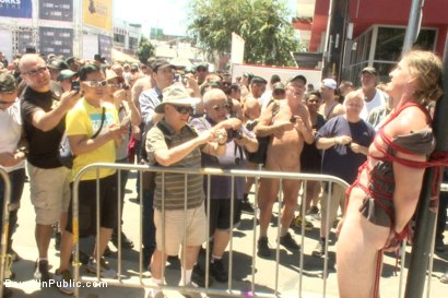 Photo number 8 from Bound hunk publicly tormented and gang fucked for his first Dore Alley shot for Bound in Public on Kink.com. Featuring Mitch Vaughn, Kip Johnson and Connor Maguire in hardcore BDSM & Fetish porn.