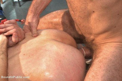 Photo number 13 from Bound hunk publicly tormented and gang fucked for his first Dore Alley shot for Bound in Public on Kink.com. Featuring Mitch Vaughn, Kip Johnson and Connor Maguire in hardcore BDSM & Fetish porn.
