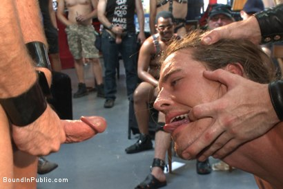 Photo number 14 from Bound hunk publicly tormented and gang fucked for his first Dore Alley shot for Bound in Public on Kink.com. Featuring Mitch Vaughn, Kip Johnson and Connor Maguire in hardcore BDSM & Fetish porn.