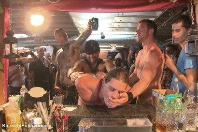 Photo number 7 from Publicly humiliated, asshole zapped, and covered in strangers' cum shot for Bound in Public on Kink.com. Featuring Mitch Vaughn, Kip Johnson and Connor Maguire in hardcore BDSM & Fetish porn.