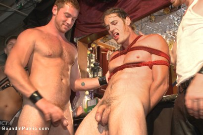 Photo number 10 from Publicly humiliated, asshole zapped, and covered in strangers' cum shot for Bound in Public on Kink.com. Featuring Mitch Vaughn, Kip Johnson and Connor Maguire in hardcore BDSM & Fetish porn.