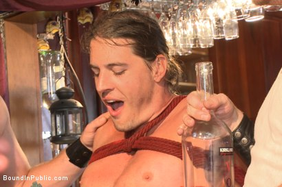 Photo number 9 from Publicly humiliated, asshole zapped, and covered in strangers' cum shot for Bound in Public on Kink.com. Featuring Mitch Vaughn, Kip Johnson and Connor Maguire in hardcore BDSM & Fetish porn.
