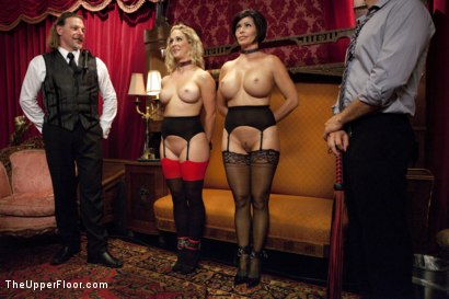 Photo number 2 from Cock Service by Two Hot MILF Slaves shot for The Upper Floor on Kink.com. Featuring Shay Fox, Ramon Nomar and Cherie Deville in hardcore BDSM & Fetish porn.