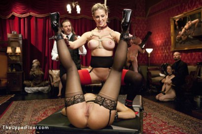 Photo number 7 from Cock Service by Two Hot MILF Slaves shot for The Upper Floor on Kink.com. Featuring Shay Fox, Ramon Nomar and Cherie Deville in hardcore BDSM & Fetish porn.
