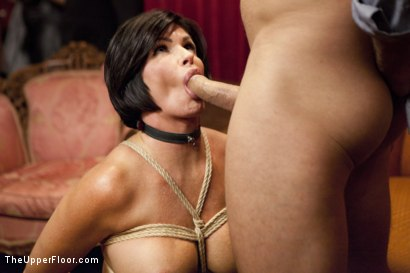 Photo number 3 from Cock Service by Two Hot MILF Slaves shot for The Upper Floor on Kink.com. Featuring Shay Fox, Ramon Nomar and Cherie Deville in hardcore BDSM & Fetish porn.