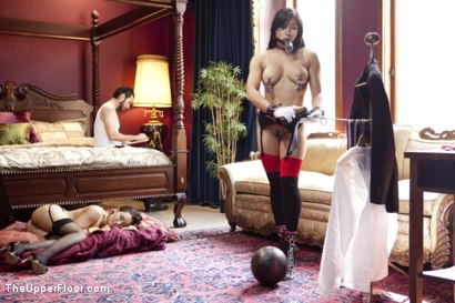 Photo number 4 from The Favorite Slave shot for The Upper Floor on Kink.com. Featuring Tommy Pistol, Gabriella Paltrova and Mia Little in hardcore BDSM & Fetish porn.