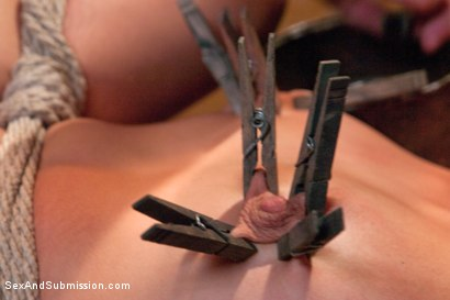 Photo number 8 from Blackmail, Bondage and Butt Sex shot for Sex And Submission on Kink.com. Featuring Zoey Monroe and James Deen in hardcore BDSM & Fetish porn.