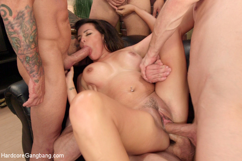 Extrem hardcore gangbang think, that