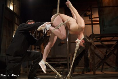 Photo number 4 from Grueling Bondage shot for Sadistic Rope on Kink.com. Featuring Casey Calvert in hardcore BDSM & Fetish porn.