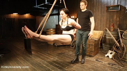 Photo number 10 from Bombproof Bottoming: Suspension from Sub's Side - with Tifereth and Cannon shot for Kink University on Kink.com. Featuring Tifereth and Cannon in hardcore BDSM & Fetish porn.