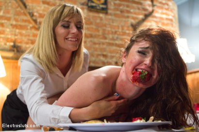 Photo number 6 from Bratty Pig Punished! shot for Electro Sluts on Kink.com. Featuring Mona Wales and Jodi Taylor in hardcore BDSM & Fetish porn.
