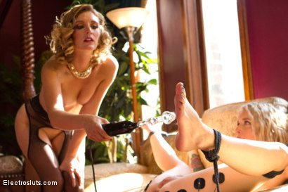 Photo number 12 from Hollywood Madame: The Training of an Electro Whore shot for Electro Sluts on Kink.com. Featuring Mona Wales and Jeze Belle in hardcore BDSM & Fetish porn.