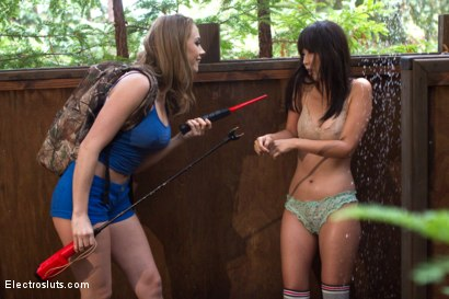 Photo number 19 from Camp Electrosluts: Punishment and Training shot for Electro Sluts on Kink.com. Featuring Marica Hase and Chanel Preston in hardcore BDSM & Fetish porn.