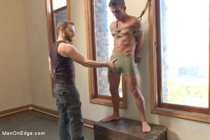 Photo number 2 from German Hunk Suspended and Edged shot for Men On Edge on Kink.com. Featuring Alexander Gustavo in hardcore BDSM & Fetish porn.