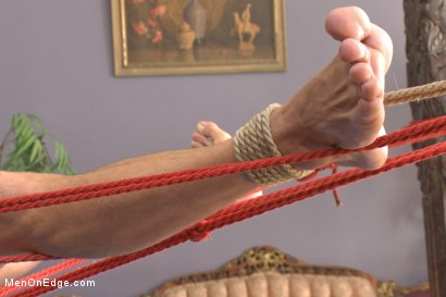 Photo number 11 from German Hunk Suspended and Edged shot for Men On Edge on Kink.com. Featuring Alexander Gustavo in hardcore BDSM & Fetish porn.