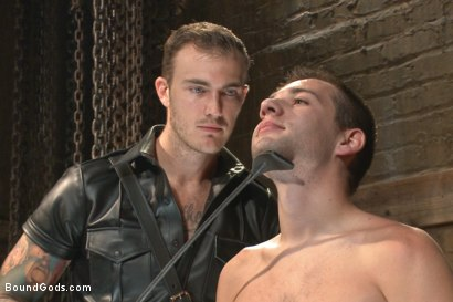 Photo number 2 from Mr Wilde trains a new slave boy and fucks him into submission shot for Bound Gods on Kink.com. Featuring Christian Wilde and Dylan Knight in hardcore BDSM & Fetish porn.
