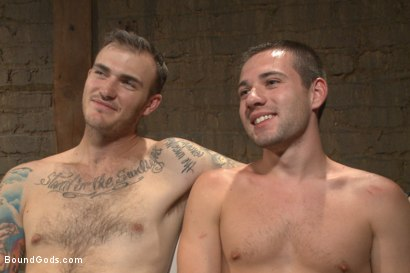 Photo number 15 from Mr Wilde trains a new slave boy and fucks him into submission shot for Bound Gods on Kink.com. Featuring Christian Wilde and Dylan Knight in hardcore BDSM & Fetish porn.