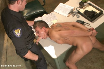 Photo number 3 from Officer Maguire beats and fucks a stud for littering shot for Bound Gods on Kink.com. Featuring Connor Maguire and Alexander Gustavo in hardcore BDSM & Fetish porn.