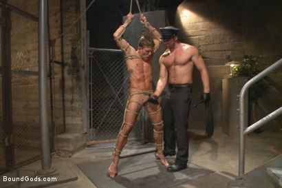Photo number 5 from Officer Maguire beats and fucks a stud for littering shot for Bound Gods on Kink.com. Featuring Connor Maguire and Alexander Gustavo in hardcore BDSM & Fetish porn.