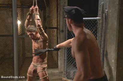 Photo number 8 from Officer Maguire beats and fucks a stud for littering shot for Bound Gods on Kink.com. Featuring Connor Maguire and Alexander Gustavo in hardcore BDSM & Fetish porn.