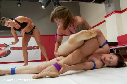 Photo number 11 from Season 12 team Captains Meet in Semi Finals for Summer Vengeance shot for Ultimate Surrender on Kink.com. Featuring Cheyenne Jewel and Mistress Kara in hardcore BDSM & Fetish porn.