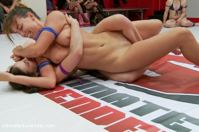 Photo number 13 from Last tag match before the 12 girl finale The final score is......... shot for Ultimate Surrender on Kink.com. Featuring Cheyenne Jewel, Mistress Kara, Juliette March, Mona Wales, Sasha Banks and Rilynn Rae in hardcore BDSM & Fetish porn.