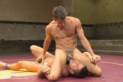 """Photo number 6 from Alexander """"The Great"""" Gustavo vs Dominic """"The Dominator"""" Pacifico shot for Naked Kombat on Kink.com. Featuring Dominic Pacifico and Alexander Gustavo in hardcore BDSM & Fetish porn."""