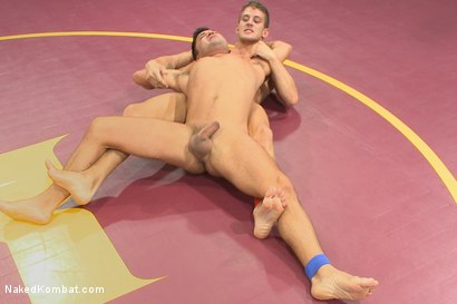 """Photo number 7 from Alexander """"The Great"""" Gustavo vs Dominic """"The Dominator"""" Pacifico shot for Naked Kombat on Kink.com. Featuring Dominic Pacifico and Alexander Gustavo in hardcore BDSM & Fetish porn."""