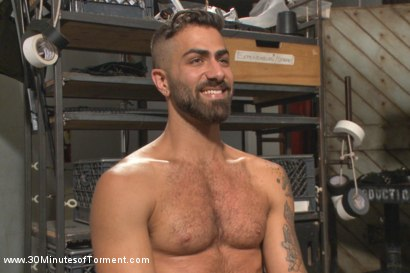 Photo number 15 from Super Hunk Adam Ramzi - Tormented and Ass Violated shot for 30 Minutes of Torment on Kink.com. Featuring Adam Ramzi in hardcore BDSM & Fetish porn.