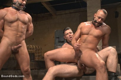 Photo number 14 from Muscle Bondage - Live Show shot for Bound Gods on Kink.com. Featuring Dirk Caber, Jessie Colter and Trenton Ducati in hardcore BDSM & Fetish porn.