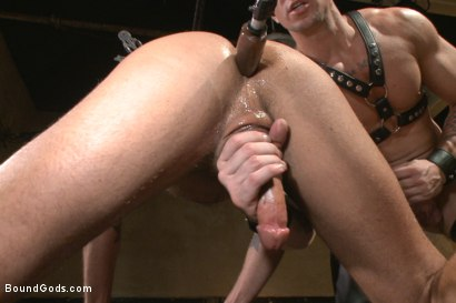 Photo number 5 from Muscle Bondage - Live Show shot for Bound Gods on Kink.com. Featuring Dirk Caber, Jessie Colter and Trenton Ducati in hardcore BDSM & Fetish porn.