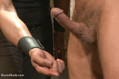 Photo number 8 from Muscle Bondage - Live Show shot for Bound Gods on Kink.com. Featuring Dirk Caber, Jessie Colter and Trenton Ducati in hardcore BDSM & Fetish porn.