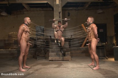 Photo number 11 from Muscle Bondage - Live Show shot for Bound Gods on Kink.com. Featuring Dirk Caber, Jessie Colter and Trenton Ducati in hardcore BDSM & Fetish porn.