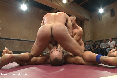 Photo number 3 from Big Show & The Giant VS Cut-Throat & The Contender - Live Match! shot for Naked Kombat on Kink.com. Featuring Nick Capra, Jessie Colter, Kip Johnson and Brock Avery in hardcore BDSM & Fetish porn.