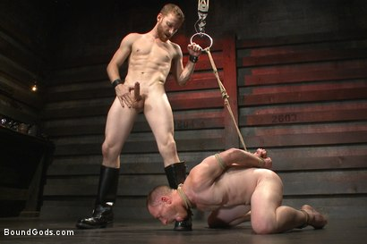 Photo number 14 from Introducing Mr Keys - Brutally torments and fucks his cock slave shot for Bound Gods on Kink.com. Featuring Sebastian Keys and Damien Moreau in hardcore BDSM & Fetish porn.
