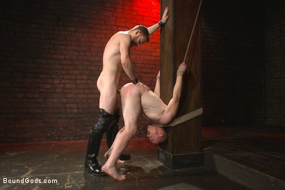 Photo number 4 from Introducing Mr Keys - Brutally torments and fucks his cock slave shot for Bound Gods on Kink.com. Featuring Sebastian Keys and Damien Moreau in hardcore BDSM & Fetish porn.