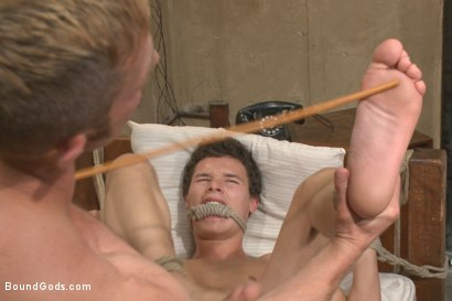 Photo number 10 from The Creepy Handyman ties his new victim up and fucks him senseless shot for Bound Gods on Kink.com. Featuring Adam Herst and Micky Mackenzie in hardcore BDSM & Fetish porn.