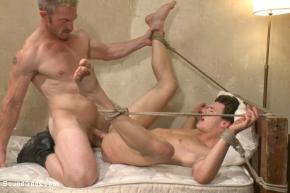 Photo number 13 from The Creepy Handyman ties his new victim up and fucks him senseless shot for Bound Gods on Kink.com. Featuring Adam Herst and Micky Mackenzie in hardcore BDSM & Fetish porn.