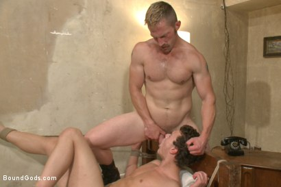 Photo number 14 from The Creepy Handyman ties his new victim up and fucks him senseless shot for Bound Gods on Kink.com. Featuring Adam Herst and Micky Mackenzie in hardcore BDSM & Fetish porn.