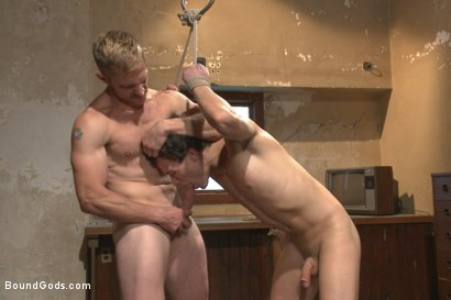 Photo number 7 from The Creepy Handyman ties his new victim up and fucks him senseless shot for Bound Gods on Kink.com. Featuring Adam Herst and Micky Mackenzie in hardcore BDSM & Fetish porn.
