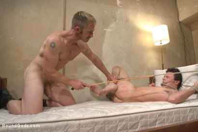 Photo number 11 from The Creepy Handyman ties his new victim up and fucks him senseless shot for Bound Gods on Kink.com. Featuring Adam Herst and Micky Mackenzie in hardcore BDSM & Fetish porn.