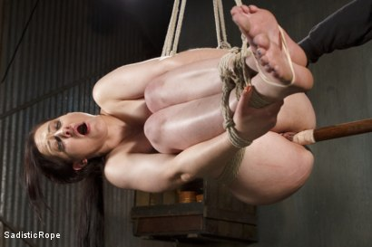 Photo number 11 from Biggest Challenge  shot for Sadistic Rope on Kink.com. Featuring Cheyenne Jewel in hardcore BDSM & Fetish porn.