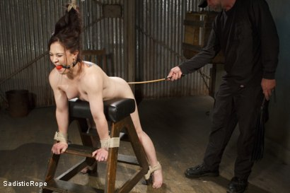 Photo number 6 from Biggest Challenge  shot for Sadistic Rope on Kink.com. Featuring Cheyenne Jewel in hardcore BDSM & Fetish porn.