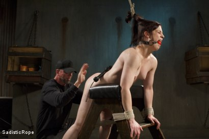 Photo number 8 from Biggest Challenge  shot for Sadistic Rope on Kink.com. Featuring Cheyenne Jewel in hardcore BDSM & Fetish porn.
