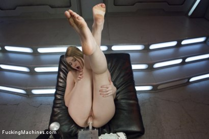 Photo number 9 from HOT! 1 Million ways HOT! Leggy, Flexible, Blond Gymnast Fucked!  shot for Fucking Machines on Kink.com. Featuring Summer Carter in hardcore BDSM & Fetish porn.