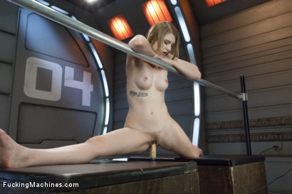 Photo number 7 from HOT! 1 Million ways HOT! Leggy, Flexible, Blond Gymnast Fucked!  shot for Fucking Machines on Kink.com. Featuring Summer Carter in hardcore BDSM & Fetish porn.