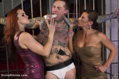 Photo number 1 from Sex Worker Revenge shot for Divine Bitches on Kink.com. Featuring Ruckus, Ariel X and Bella Rossi in hardcore BDSM & Fetish porn.
