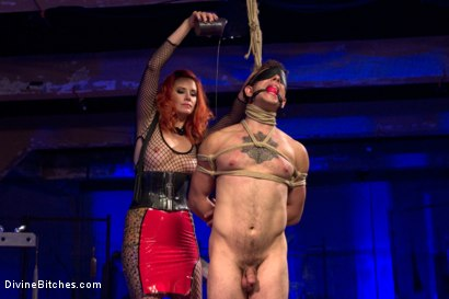 Photo number 11 from The Maitresse Milks Virgin Prostate and Punishes Dripping Cock! shot for Divine Bitches on Kink.com. Featuring Maitresse Madeline Marlowe  and Corbin Dallas in hardcore BDSM & Fetish porn.