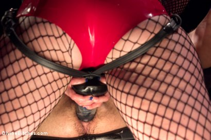 Photo number 5 from The Maitresse Milks Virgin Prostate and Punishes Dripping Cock! shot for Divine Bitches on Kink.com. Featuring Maitresse Madeline Marlowe  and Corbin Dallas in hardcore BDSM & Fetish porn.