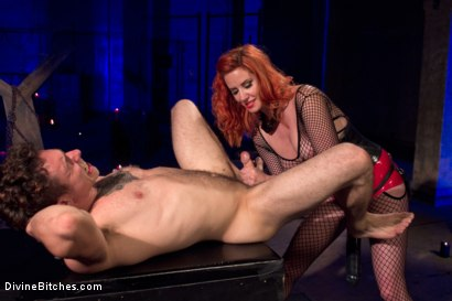 Photo number 6 from The Maitresse Milks Virgin Prostate and Punishes Dripping Cock! shot for Divine Bitches on Kink.com. Featuring Maitresse Madeline Marlowe  and Corbin Dallas in hardcore BDSM & Fetish porn.